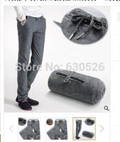 2014 Hot sale Linen cotton men grey pants Summer breathable linen trousers Slim trousers fashion men pants size:28~38
