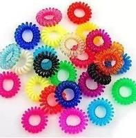 Wholesale Elastic Harmful Medium Size Hair Accessories Candies Colored Hair Bands 25pcs/lot