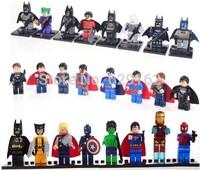 Hot Sale! Avengers Alliance, Superman Batman. 24 Pcs/Lot, Super Heros Kids Building Blocks Assemble Minifigures. No Original Box