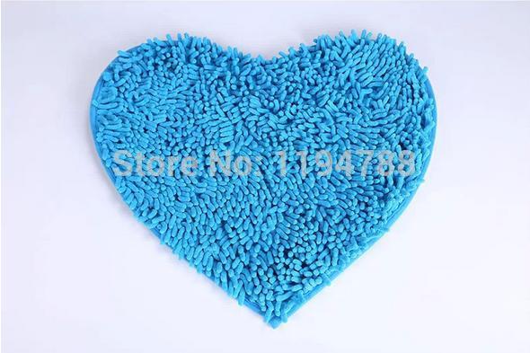 Heart-shaped Frete Grátis microfibra chenille MATS Amor Red absorvente antiderrapante tapete do banheiro Mat(China (Mainland))