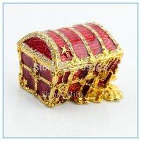 Handmade rabbit shape trinket box with rhinestone for birthday gifts SCJ228