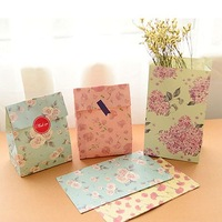 Flower printing Kraft paper bags,gift bags Party, Lolly,Favour, Wedding, Packaging