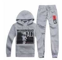 The hot Fashion, Muhammad Ali suit sport hoodies of autumn winter jacket tracksuit men clothing set