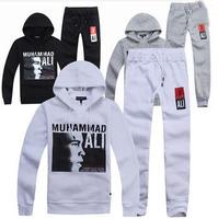 Fashion Muhammad Ali suit sport hoodies autumn winter jacket tracksuit men clothing set