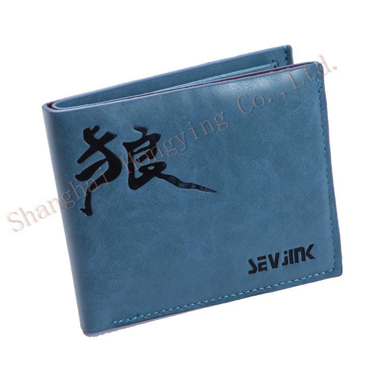 Seven swordsman fashion color oil side business man bag handbag bag wallet card pack(China (Mainland))