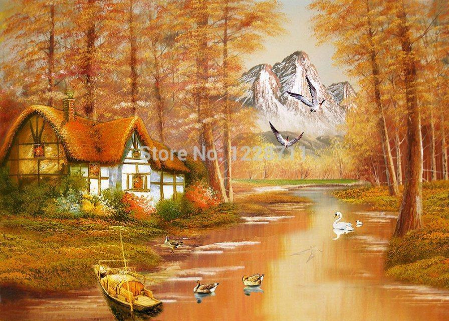 Peinture bateau de canard promotion achetez des peinture - Paillettes peinture murale ...