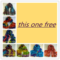 Stock clearance sale  colorful silk shawls /scarf/scarves,free shipping D179