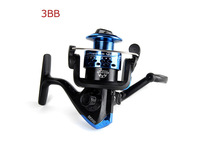 Ball Bearings Left Right Hand Interchangeable Collapsible Handle Fishing Spinning Fish Reel 3BB Free drop shipping