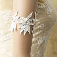 New handmade bride lace arm ornaments armlessly bracelet fashion wedding dress accessories for Bridesmaid bracelets free ship