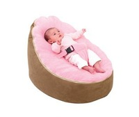 Free shipping fashion large baby beanbag sofa chair , baby seat, baby sleeping bean bag beds, 2 tops baby recliner