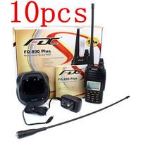 10pcs NEW FEIDAXIN 890plus Walkie Talkie Single Band Dual Freq Dual Display Dual Standby 10W 128CH UHF 400-470MHz Two Way Radio
