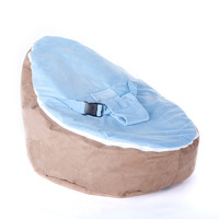 Free shipping soft suede fabric baby beanbag, baby bean bag chair, baby seat, baby toddler chair