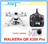 2014 Newest WALKERA QR X350 Pro with iLook plus camera GPS Drone 6CH Brushless UFO DEVO F7 Transmitter RC quadcopter For boy toy