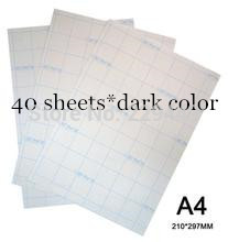 A4 40pcs Paper Dark Color Inkjet Heat Transfer Printing