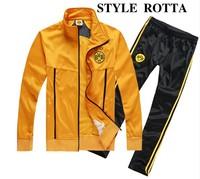 2014/15 Borussia Dortmund tracksuits BVB Dortmund training suits jackets pants sportswear