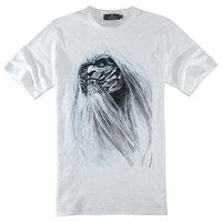 Good quality A Game of Thrones ghost print cool creative short-sleeve shirt round neck boy men unisex basic T-shirt