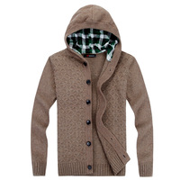 2014 Autumn winter  men's fashion Hooded Twist the knitting  Pullovers sweater Y0313