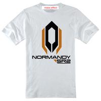 Good quality mass effect N7 print short-sleeve shirt round neck boy men unisex basic T-shirt