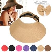2014 New Style Free Shipping Beach cap sunbonnet visor strawhat female summer sunscreen folding big sun hat
