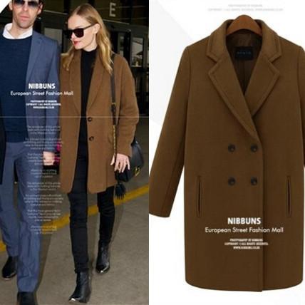 Brown Wool Coat Women