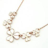 Fashion Leaves Linked Flower choker statement necklace pendant & necklace lady women jewelry JZ153