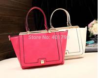 Solid color fashion  lady's  handbag  clutch