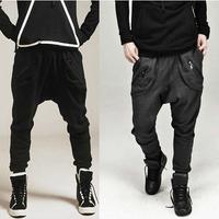 2014  jogger pants,Comfortable Terry harem feet pants, men's banana dance pants,low drop crotch sweatpants for men,X77,28-35