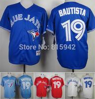 Toronto Blue Jays Authentic #19 Jose Bautista Stitched Baseball Jerseys Cheap Blue Grey White Red