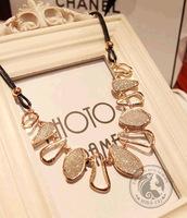 fashion Scrub Crystal Vintage choker statement necklace pendant & necklace lady women jewelry JZ118