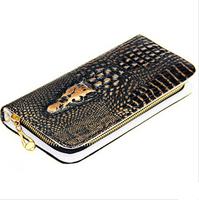 2014 Wholesale Alligator Pattern PU Leather wallet Large capacity evening bag , Fashion shining clutch bag crocodile wallet