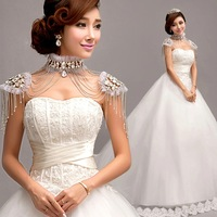 Angel Bra Trailing Wedding Dress Princess Bride Wedding Dress Free Shipping-China Sales