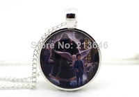 10pcs Harry, Hagrid and Hedwig, Harry Potter and the Philosopher's Stone Book Cover Necklace glass Cabochon Necklace