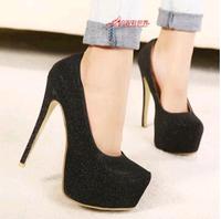 2014 Explosive new Korean OL high-heeled waterproof shoes waterproof female singles princess wedding shoes A15-3