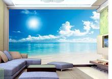 Wholesale blue mural wallpaper