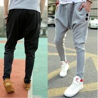 new 2014 autumn jogger pants,men's harem feet pants, men's banana dance pants, low drop crotch sweatpants for men,X130,28-35