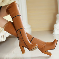 new 2014 winter 3 bell style fashion designer genuine leather knee high women's boots free shipping