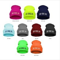 hot 2014 vogue Sport gorro hats for women winter knitted hat mens hats Bad Hair Day Beanie  hip-hop cap 12 color Beanie Knitted