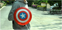 hot sales Avengers Captain America/captain america shield, LED Flash and music Plastic shield 30cm Not include battery