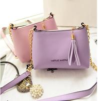 2014 wholesales fashion 4 color candy color new trendy women bag brand tassel shoulder bag handbags across striped  bag