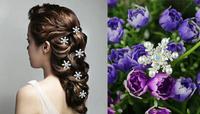 Free Shipping Snowflake Crystal Pearl Hair Pins. Fashion Hair Jewelry. New Wedding Party Bride Woman Hair Clips.100pcs/lot
