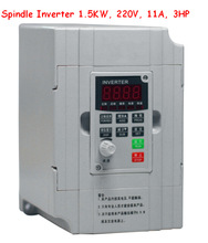 Free shipping, spindle inverter 1.5kw , Variable Frequency Drive VFD Inverter 1.5KW 3HP 220V 11A(China (Mainland))