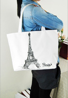 2014 cotton printed Canvas bags handbag for ladies womens shoulder bag handle shopping bag free Environmental protection colors