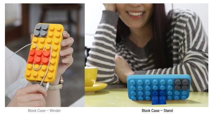 3D Lego Toy Brick Building Block Design Soft Silicone Case Protective Cute