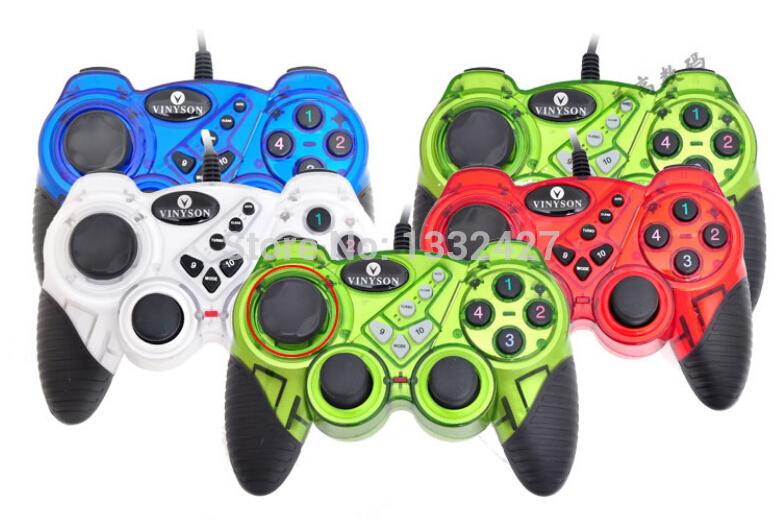 FREE SHIPPING USB double shock gamepad gamer ga