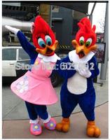 2014  Woody Woodpecker & his girlfriend Winnie adult size Halloween Christmas Mascot Costume Fancy Dress Hot Sale