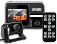 Hot!!! Dual Lens Camcorder i1000 Car DVR Dual Camera HD 1080P Dash Cam Black Box With Rear 2 Cam Vehicle View Dashboard Cameras