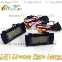 Error Free LED License Plate Light Lamp For Volkswagen Jetta 6 MK6 Passat Sharan Audi A6