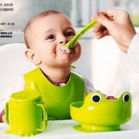 2014 new seconds kill freeshipping dinnerware set animal pp ce / eu ciq bpa free tableware 4 cup spoon bib professional