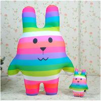 Large accent rainbow sugar doll colorful rabbit monkey cat bear doll craftholic plush toy  CRAFT HOLIC Plush Animals