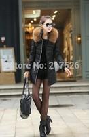 2015 Plus Size New Arrival  Hot Sale Ladies Fashion fur  Coat  Women Thickening Jackets Parka Overcoat Tops Down Fur Coat Winter